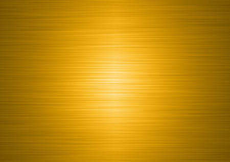 ironworks: high resolution brushed gold plate Stock Photo