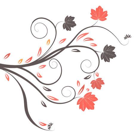 beautiful abstract vector autumn design  photo