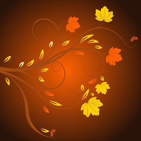 beautiful abstract vector autumn design  Stock Photo - 1091723