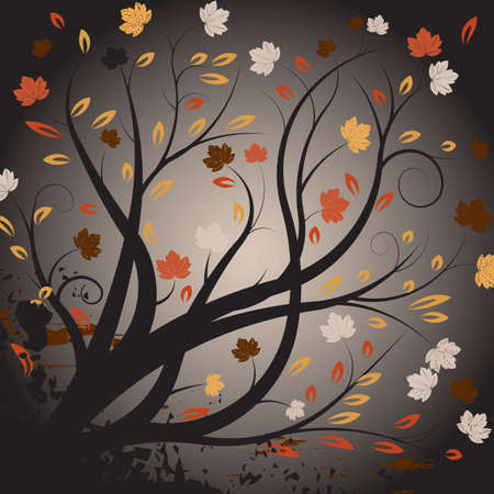 beautiful abstract vector autumn design  Stock Photo - 1091724