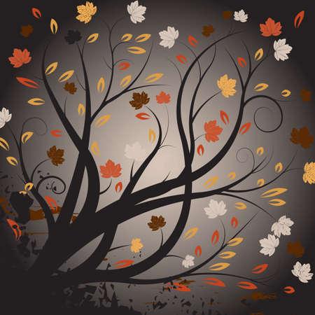 beautiful abstract vector autumn design Stock Photo - 1091724