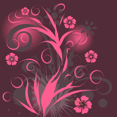 beautiful abstract vector floral design  Stock Photo - 1091728