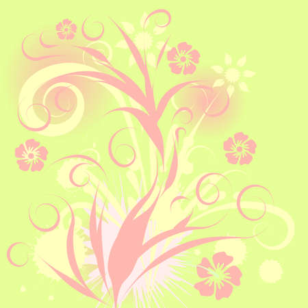 beautiful abstract vector floral design  Stock Photo - 1091729