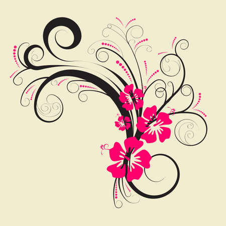 beautiful abstract vector floral design  photo