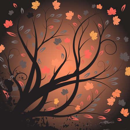 beautiful abstract vector autumn design Stock Photo - 1091731
