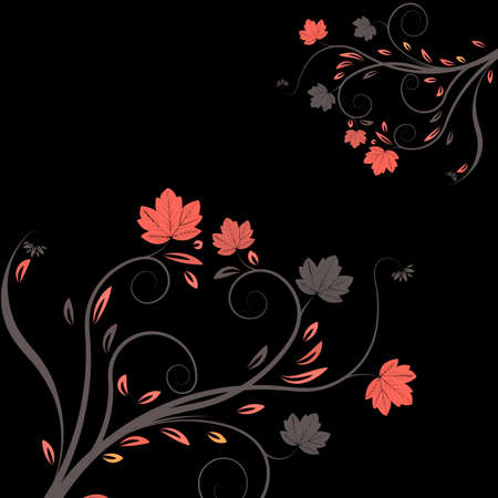 abstract vector flower illustration  illustration