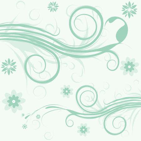 trendy abstract vector flower illustration illustration