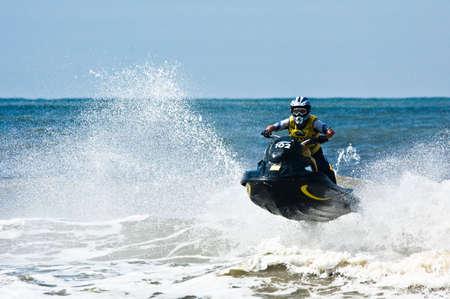 extreme  jet-ski watersports with big waves Stock Photo - 1320094