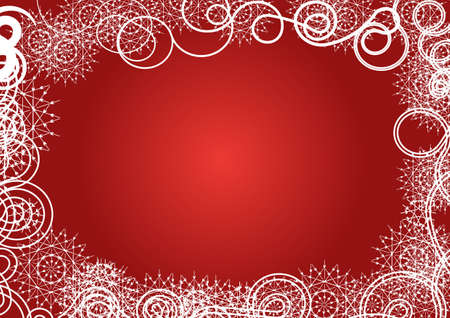 red and white winter vector background design Stock Photo - 1349601