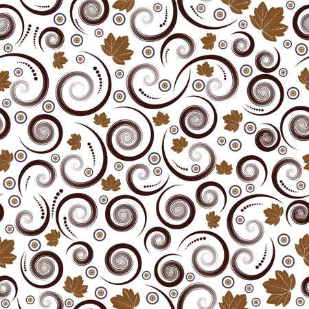 beautiful autumn seamless vector floral design Stock Photo - 1355610