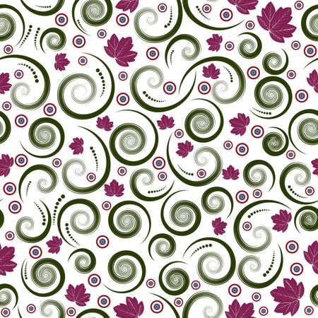 beautiful autumn seamless vector floral design Stock Photo - 1355611