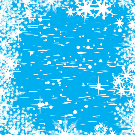 Decorative abstract winter vector background  Stock Photo - 1355621
