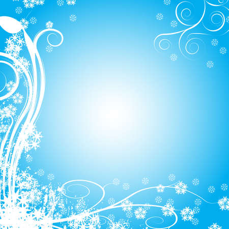 Decorative abstract winter vector background Stock Photo - 1355614