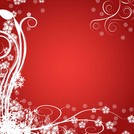 Decorative abstract winter vector background Stock Photo - 1355616