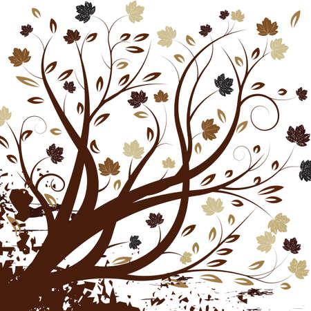 beautiful vector autumn tree design Stock Photo - 1404885