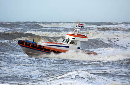 comrade: coast guard during storm in ocean
