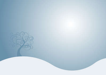 beautiful abstract vector winter tree design Stock Photo - 1463730