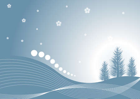 beautiful abstract vector winter tree design Stock Photo - 1463740