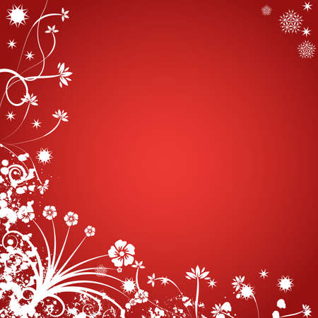 Decorative abstract winter vector background Stock Photo - 1546138