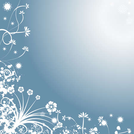 Decorative abstract winter vector background Stock Photo - 1546134