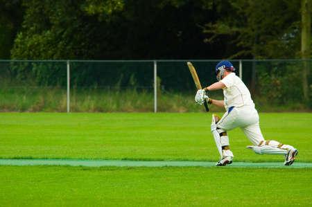 cricket player in action Stock fotó