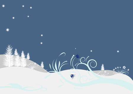beautiful abstract vector winter design photo