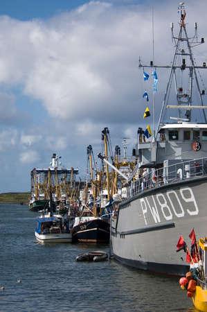 net trade: harbor and many ships on a sunny day