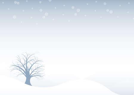 beautiful abstract vector winter tree design photo