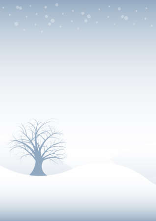 beautiful abstract vector winter tree design Stock Photo - 1615014