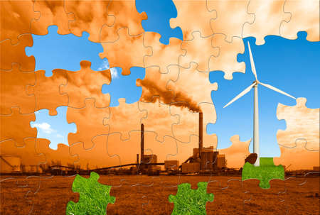 the puzzle to make this world a greener place to live Stock Photo