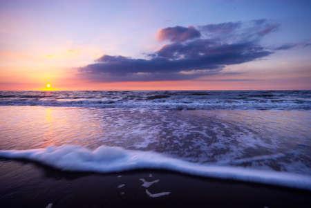 a beautiful night at the beach  ( slow shutterspeed) photo