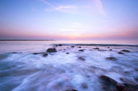 waves on a beautiful night ( slow shutterspeed) Stock Photo - 1829473