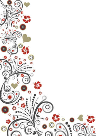 trendy vector floral border design photo