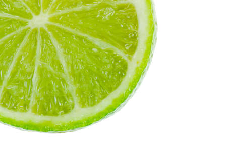 fresh lime isolated on white Stock Photo - 1920093