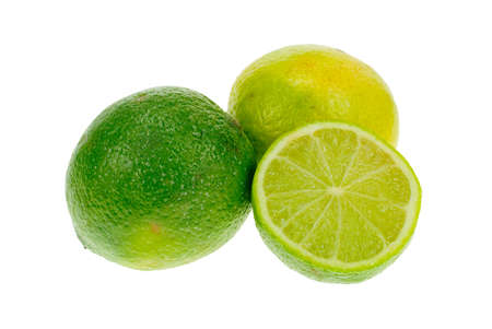 fresh lime isolated on a white background photo