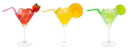 cocktail party set isolated on a white background photo