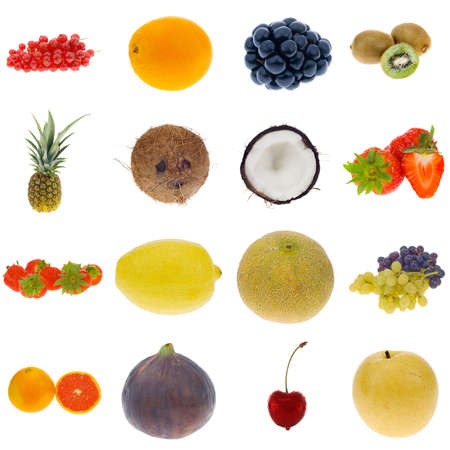 fruit collection isolated on a white background, all pieces individually photographed in studio and no shade so its easy to select. Stock fotó