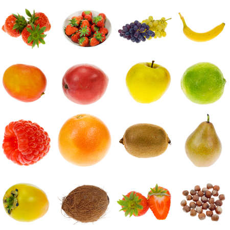 fruit collection isolated on a white background, all pieces individually photographed in studio and no shade so its easy to select. photo