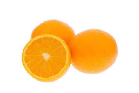 fresh oranges isolated on a white background Stock Photo - 2196193