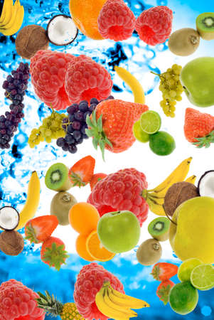 abstract fresh summer fruit concept for backgrounds photo