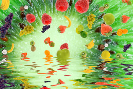 colorful fresh summer fruit abstract background Stock Photo - 2200927