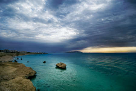 sunrise and turquoise ocean in sharm el sheikh, egypt Stock Photo - 2425484