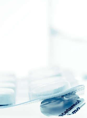analgesic: paracetamol ,an analgesic (pain-relieving) drug Stock Photo