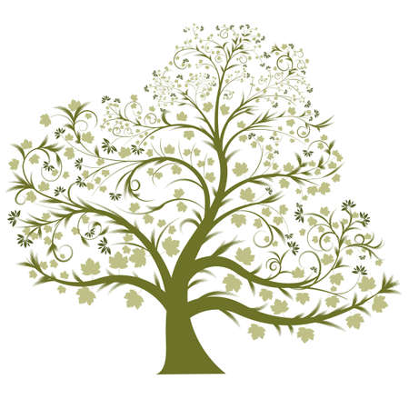 beautiful vector tree design photo
