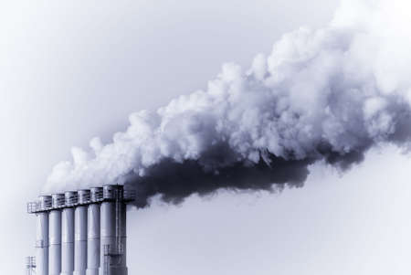 industrial smoke from chimney photo