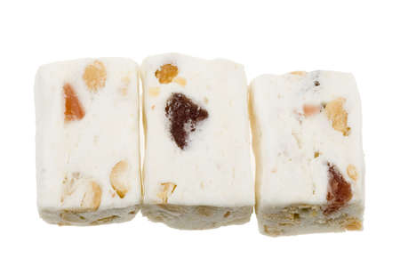 delicious nougat isolated on a white background photo