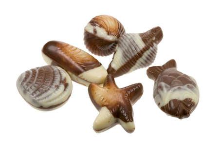 delicious belgian fruits de mer chocolates photo