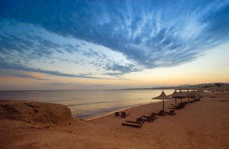 a beautiful sunset in sharm el sheikh, egypt photo