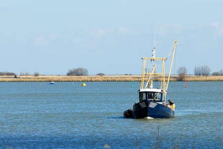 ijsselmeer: a small fishing ship in the IJsselmeer, the netherlands Stock Photo