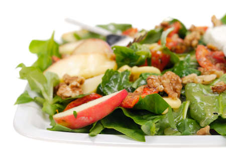 fresh and healthy salad isolated on a white background photo